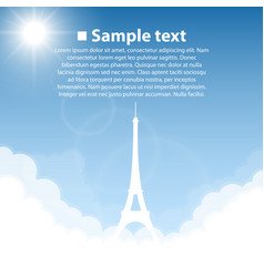 Eiffel tower world sightseeing collection vector