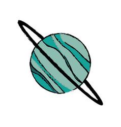 Planet uranus astronomy universe icon vector