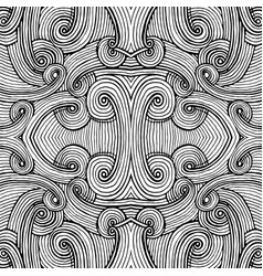 abstract seamless background of doodle hand drawn vector image