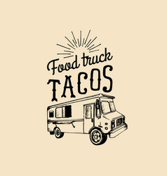 tacoshot and tasty logo vintage mexican vector image