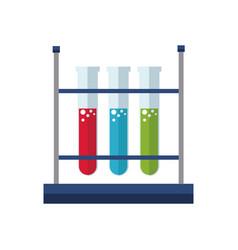 Test tube rack laboratory exam liquid vector