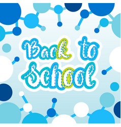 Back to school logo colorful text on white vector