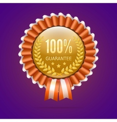 Badge 100 guarantee vector