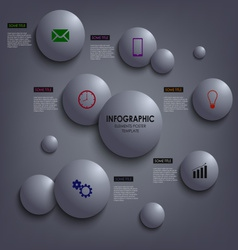 Abstract info graphic colored round element vector image