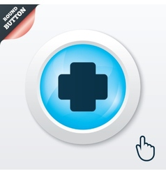 Medical cross sign icon diagnostics symbol vector