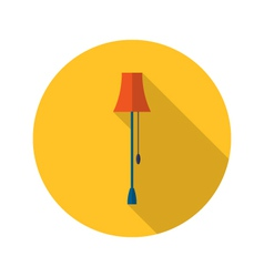 Lamp icon over yellow vector