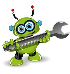 Robot for repairs vector