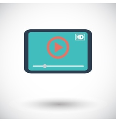 Video player icon vector
