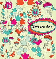 Card for Your Text with a Seamless Pattern vector image