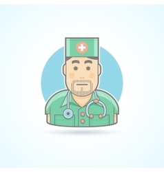 Doctor medic surgeon icon avatar and person vector