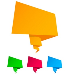 Origami speech bubble vector vector