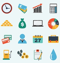 Colorful economy icon set vector