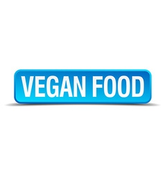 Vegan food blue 3d realistic square isolated vector