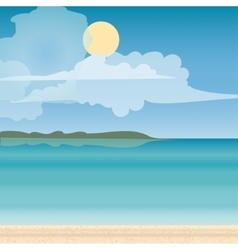Sea horizon nature landscape vector