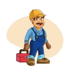 Plumbing service Plumber cartoon design vector image