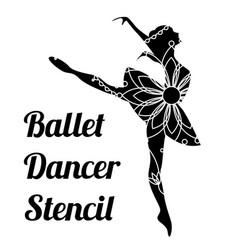 ballet dancer stencil vector image