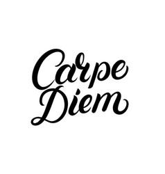 Carpe diem hand written lettering quote vector