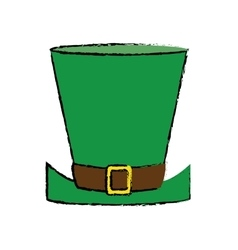 Cartoon top hat saint patrick day symbol vector