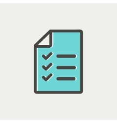 Checklist list thin line icon vector image