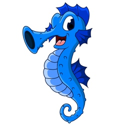 cute seahorses cartoon vector image vector image