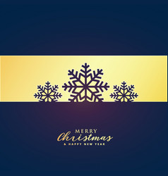 elegant premium merry christmas greeting design vector image