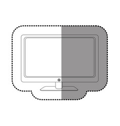 figure smart tv modern technology vector image