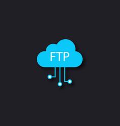 Ftp file transfer icon vector