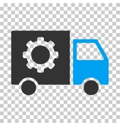 Gear tools delivery car eps icon vector