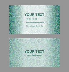 Green abstract business card template design vector