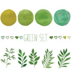 Green set for design vector