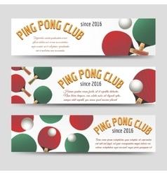 Horizontal ping pong banners vector