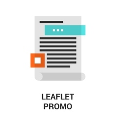 leaflet promo icon vector image vector image