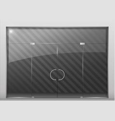 Partition with glass door vector
