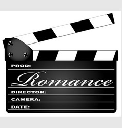 Romance clapperboard vector