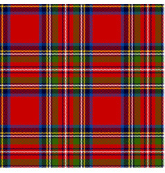 Scottish plaid royal stewart tartan vector