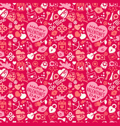 Seamless pattern of scattered valentines day icons vector