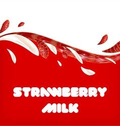 Strawberry milk background vector