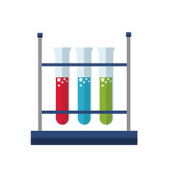 Test tube rack laboratory exam liquid vector