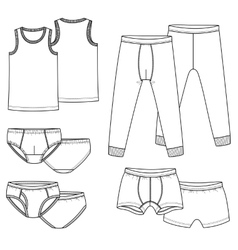 Underpants briefs shirt vector