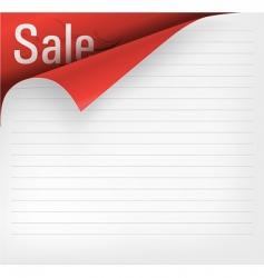 vector paper corner vector image