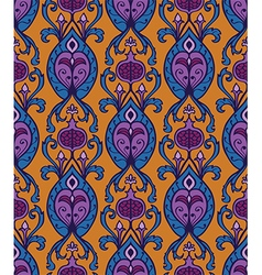 Vintage textile with ornament vector