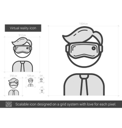 Virtual reality line icon vector
