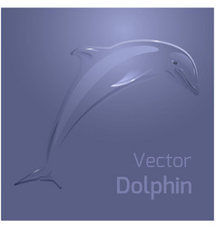 with stylized dolphin for your creativity vector image vector image