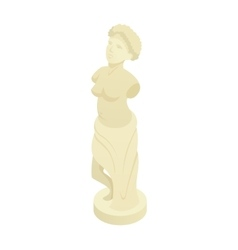 Ancient greek statue icon cartoon style vector