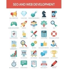 SEO and WEB development vector image