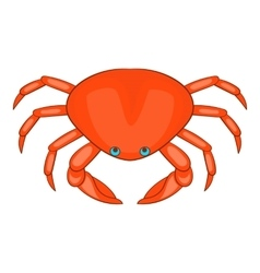 Ocean crab icon cartoon style vector