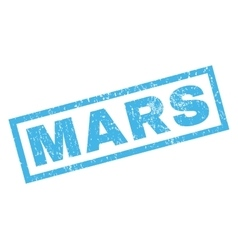 Mars rubber stamp vector