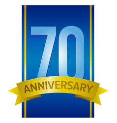 70 anniversary label vector image