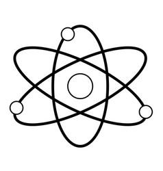Atom molecule particle structure biology line vector