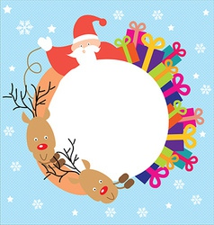 Christmas santa print template vector